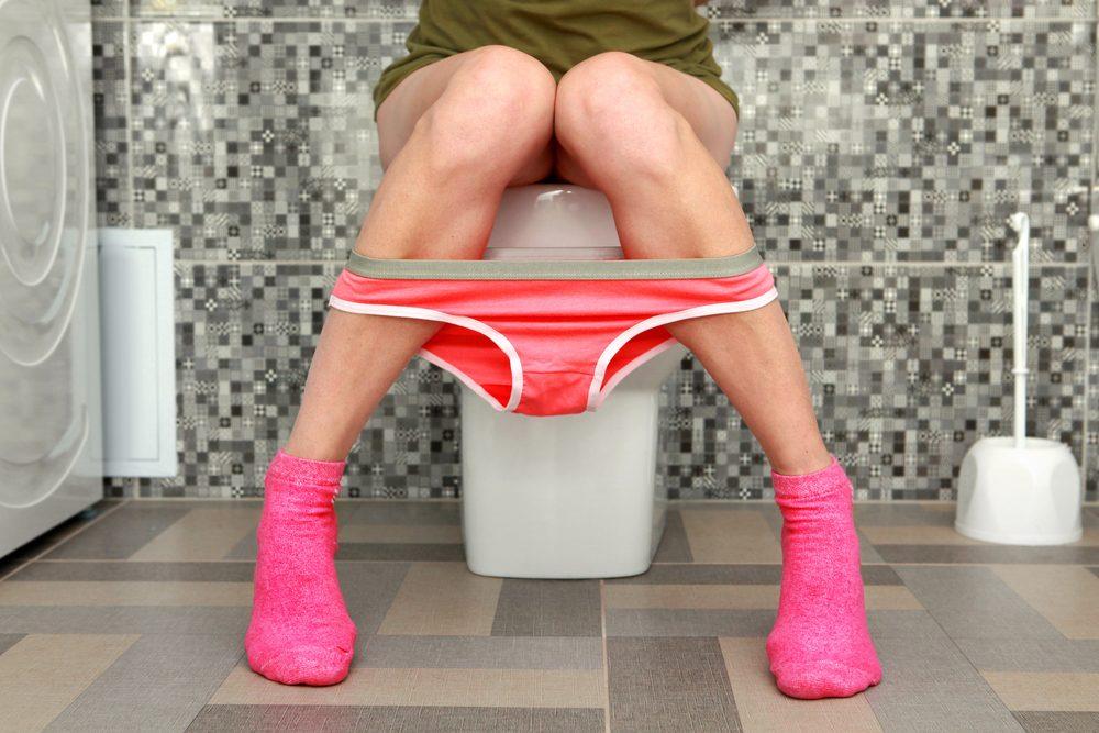 Habitude secrète: vous allez à la toilette la porte ouverte