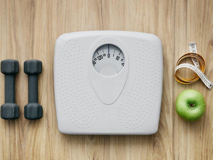 Conserver un poids santé est bon contre les maladies du coeur.