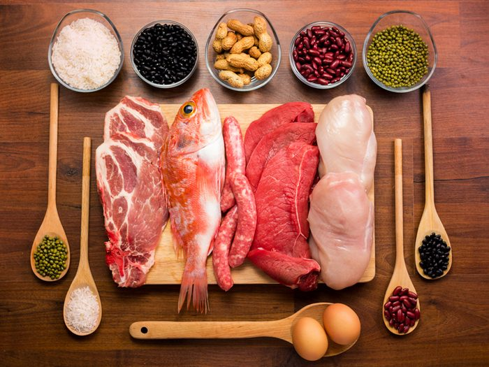 Manger beaucoup de protéines est bon pour prévenir les maladies du coeur.
