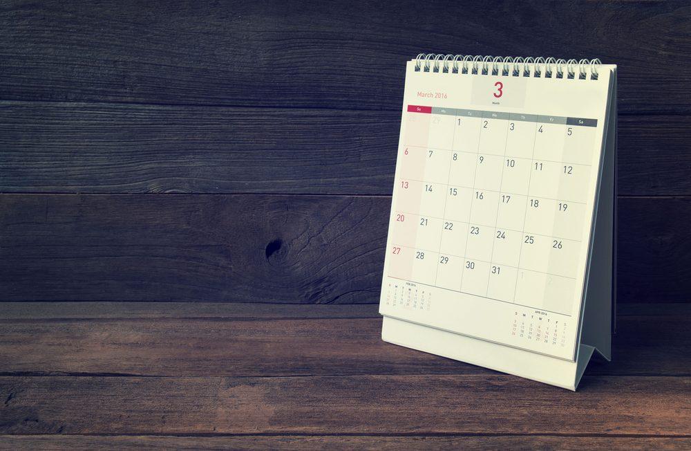 Planifier son SPM en tenant un calendrier.