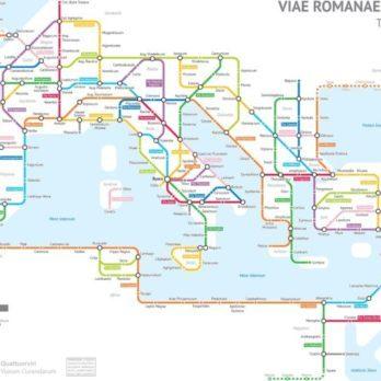 Les Romains ont construit 400000km de routes. Incroyable: on dirait un plan de métro!