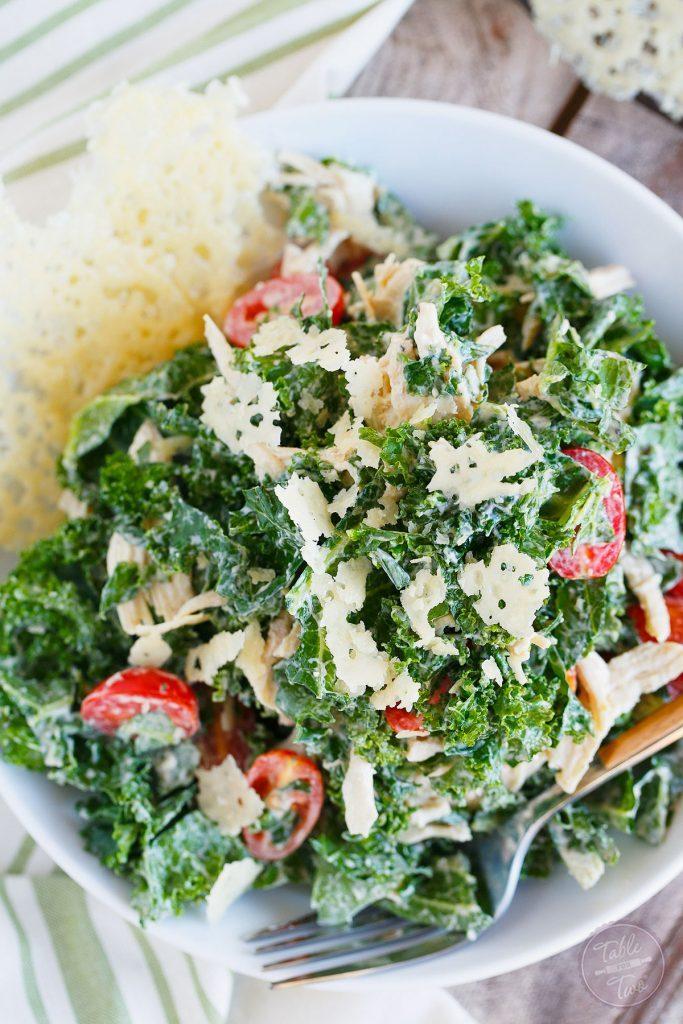 Salade César de kale