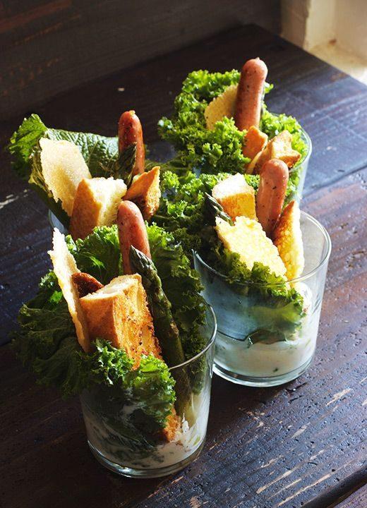 Salade César en verrines