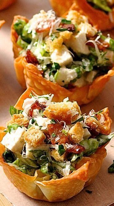 Salade César won ton