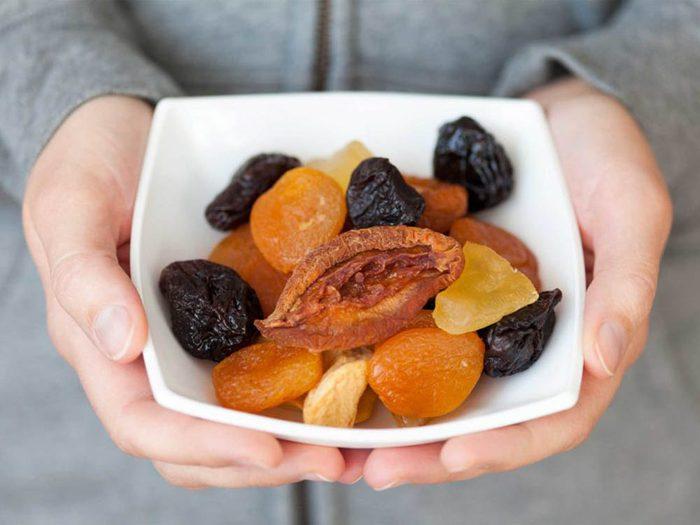 Aliment riche en fer: les fruits secs.