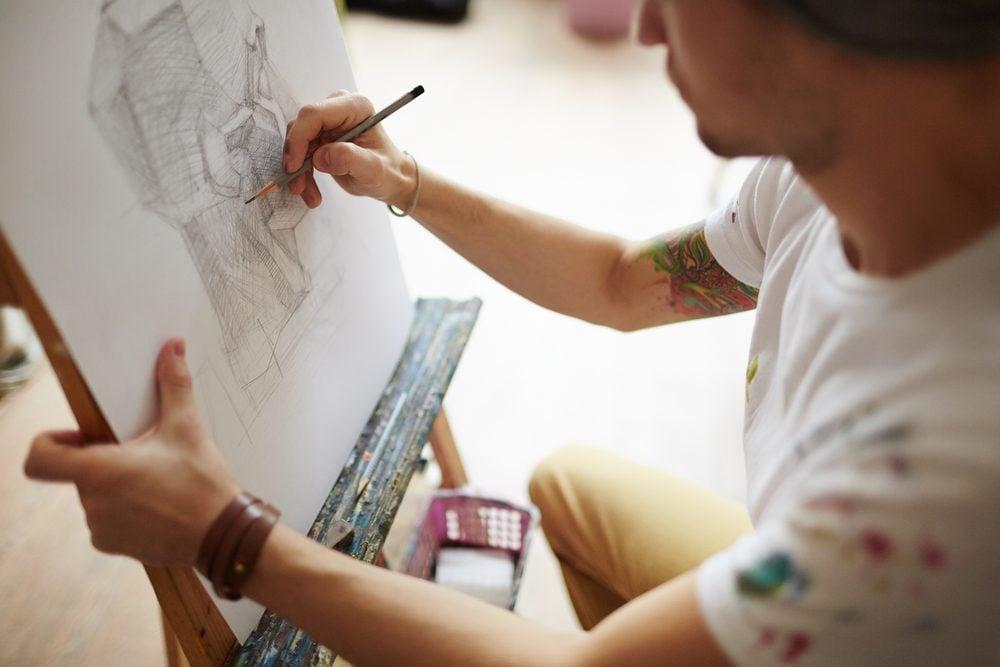 Bien-être: le dessin et la peinture