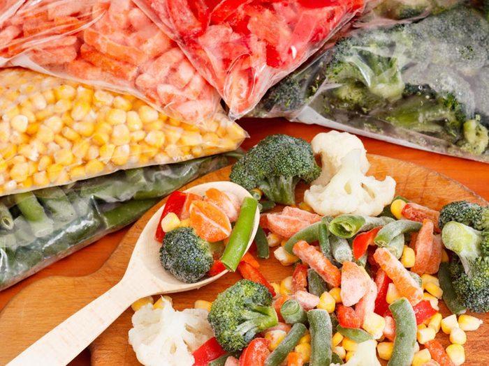 Erreurs culinaires: les légumes surgelés ne sont pas mauvais.