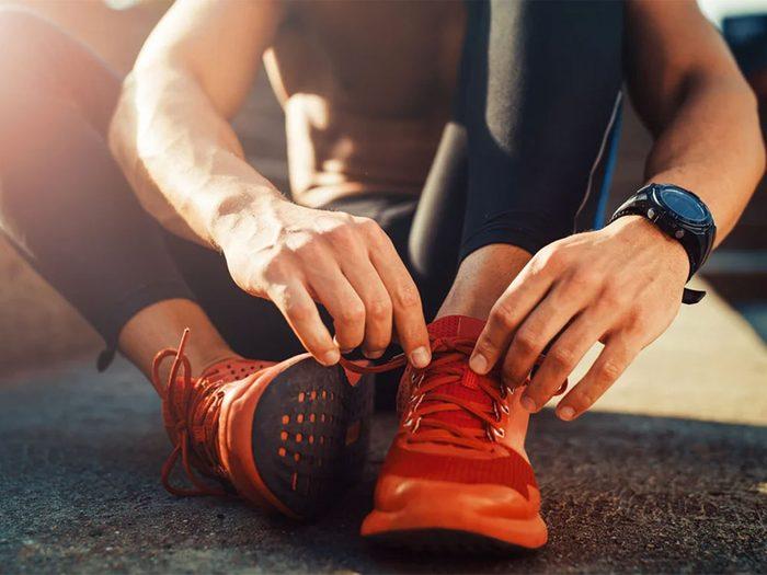 Des souliers qui respirent pour s'entrainer l'été.