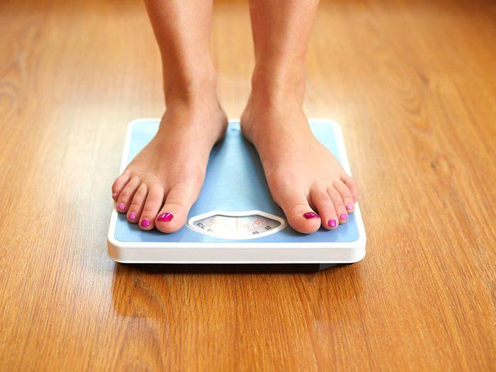Source de stress: votre poids.