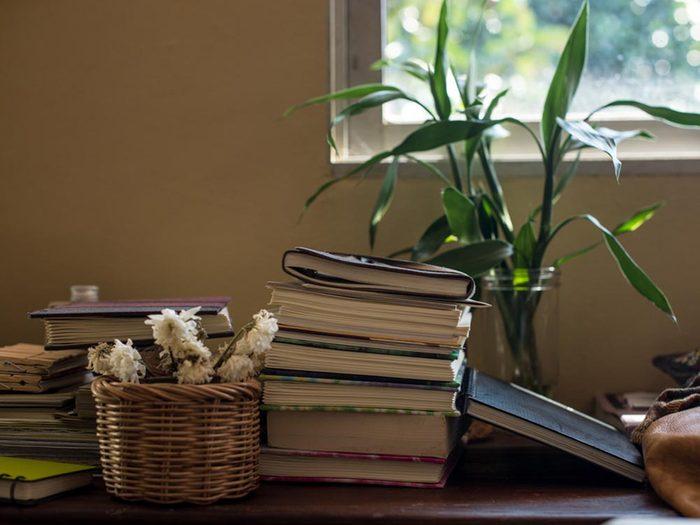 Source de stress: la table de chevet.