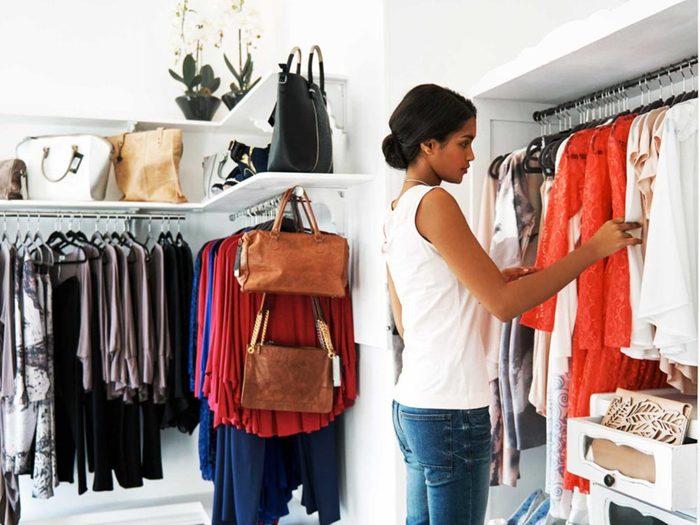 Source de stress: les vêtements