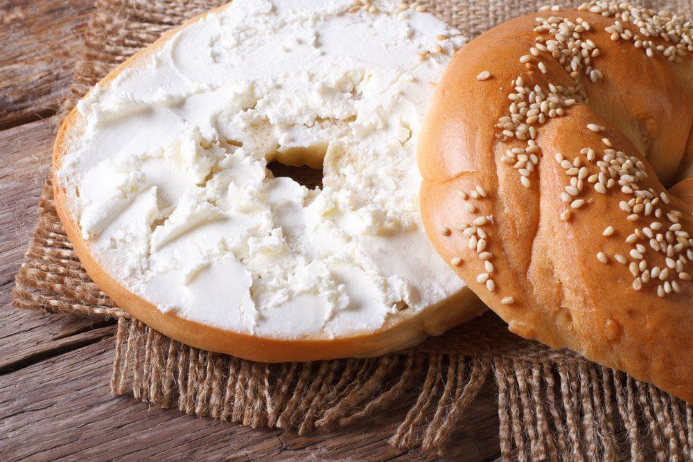 Le fromage à tartiner a une faible valeur nutritionnelle.