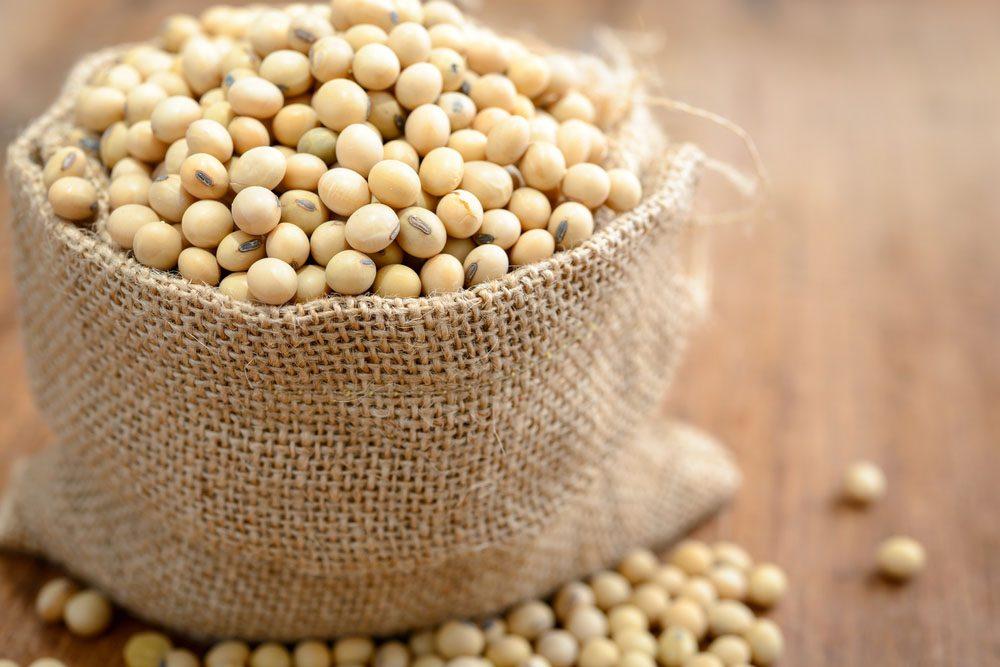 La protéine de soja contient un herbicide. Il faut donc en consommer avec modération.