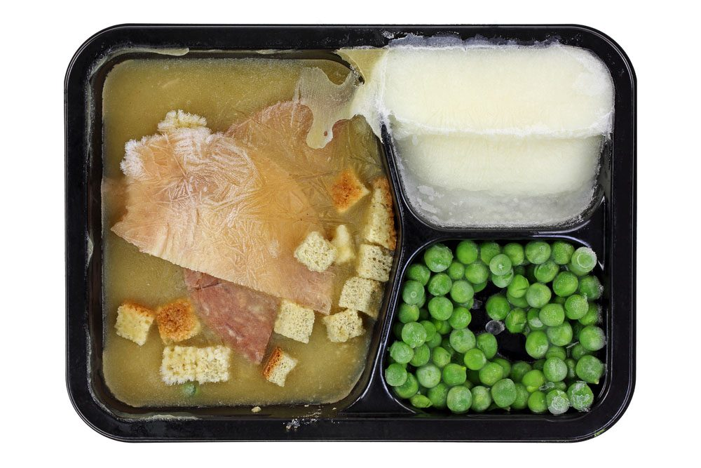 Les repas congelés sont faits d'aliments hautement transformés.
