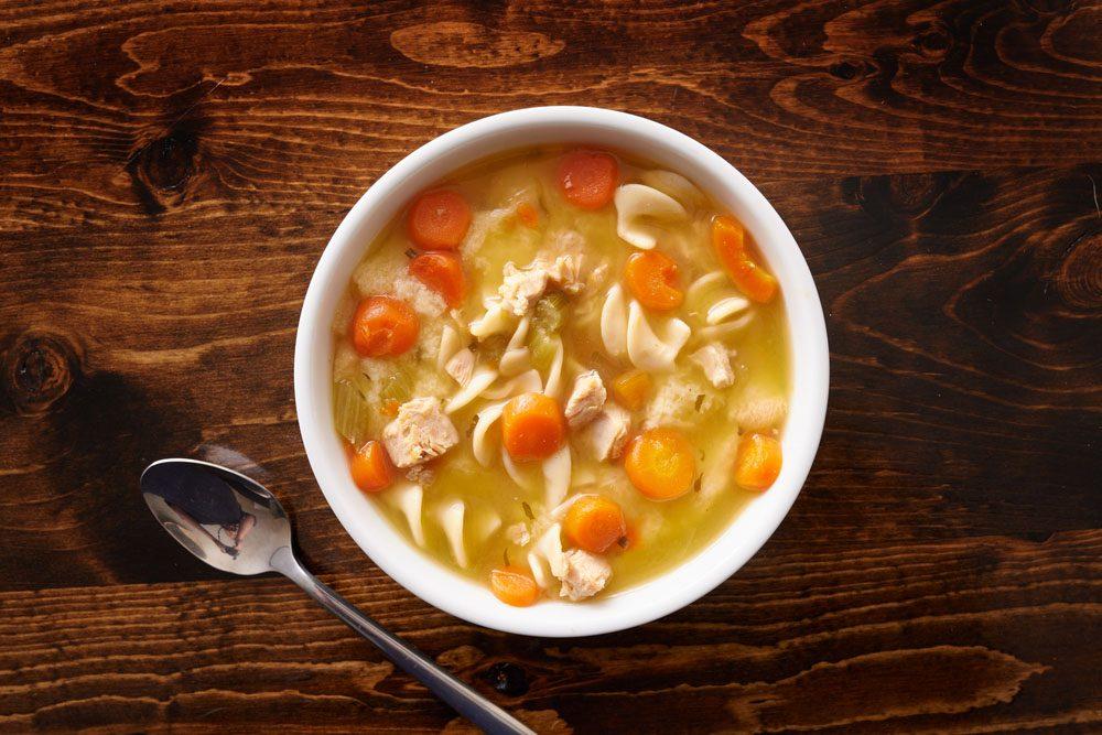 Les soupes en boîtes sont remplies de sodium.