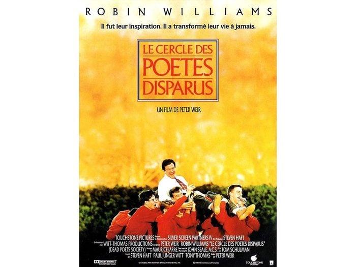 Parmi les films à (re)découvrir: le cercle des poètes disparus.