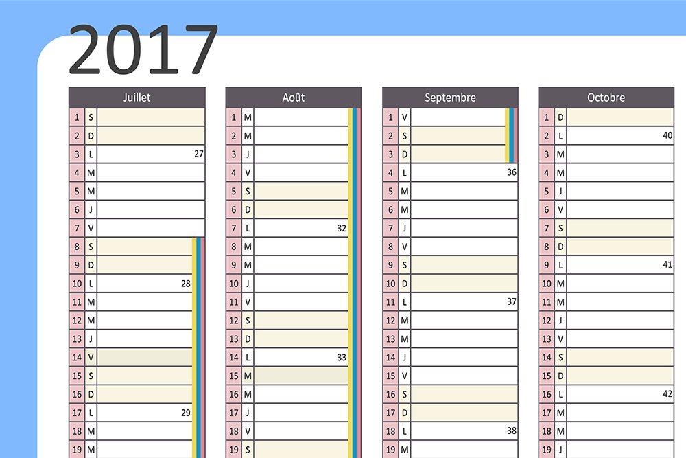 Faites un calendrier général