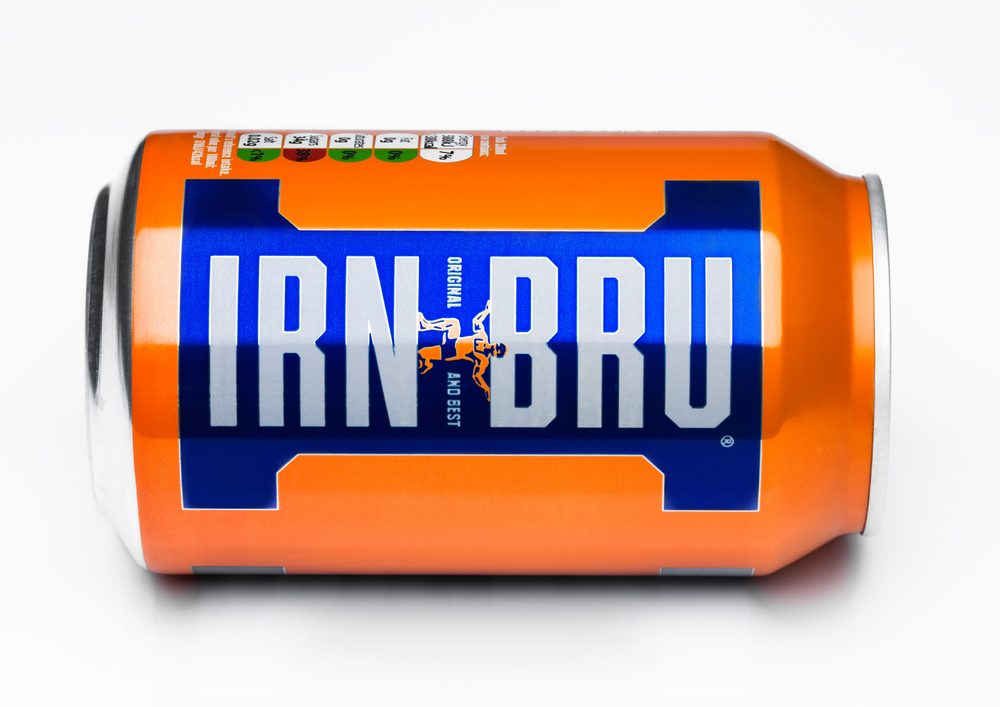 Ce soda orange est écossais.