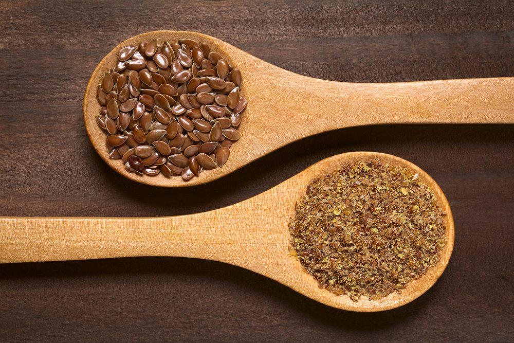 Les graines de lin sont une excellente source d'acide alpha-linoléique.