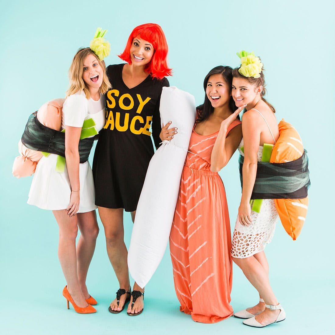 Ces costumes conviennent aux vrais fans de sushis.