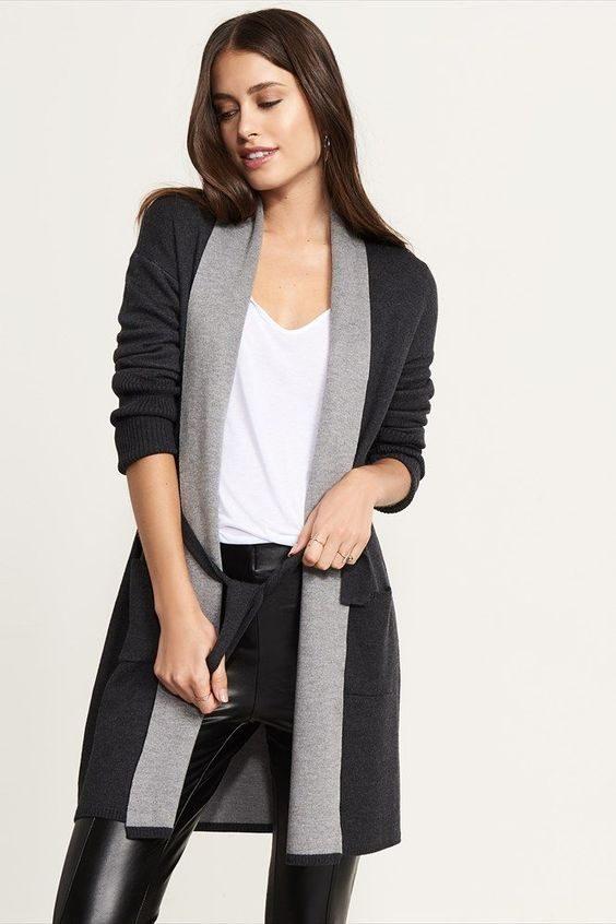 Grâce aux vestes longues, vous pouvez « assagir » un peu votre look pour aller travailler.