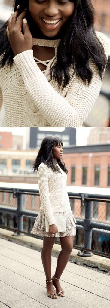 Les chandails en tricot avec des torsades sont parfaits pour l'automne.