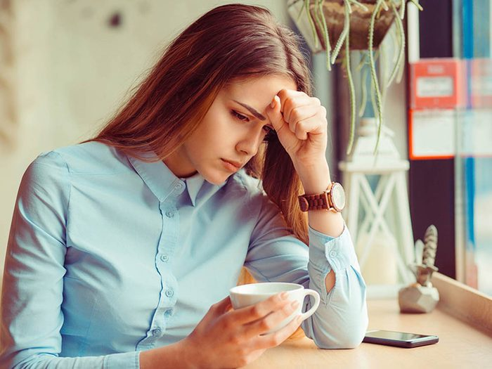 L'absence de menstruation peut être provoqué par un stress prolongé.