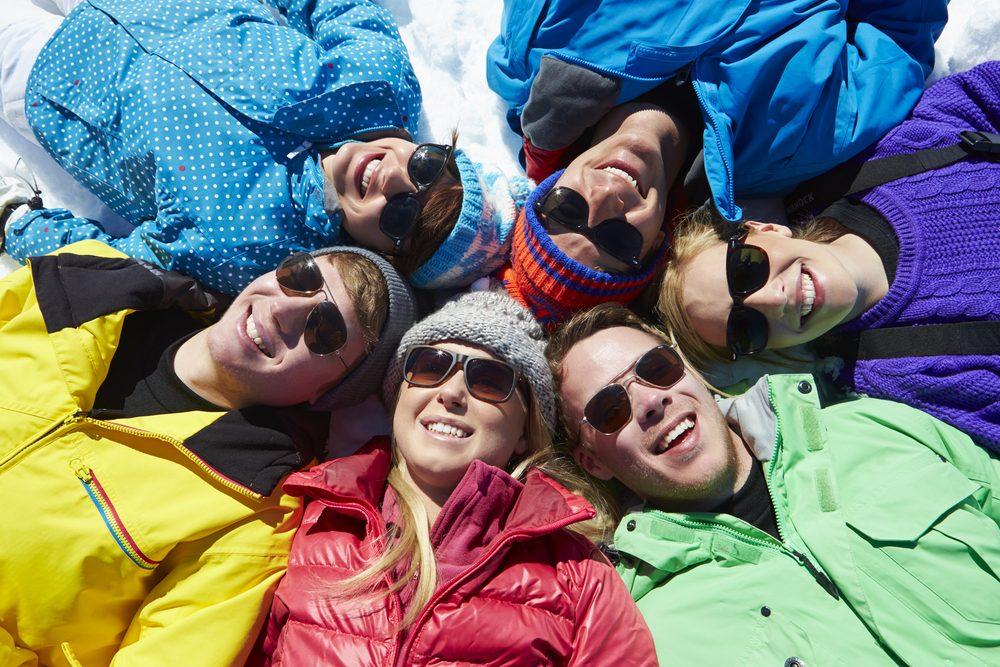 Le ski rend heureux