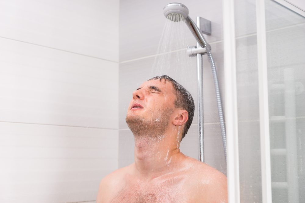 Prendre une douche express