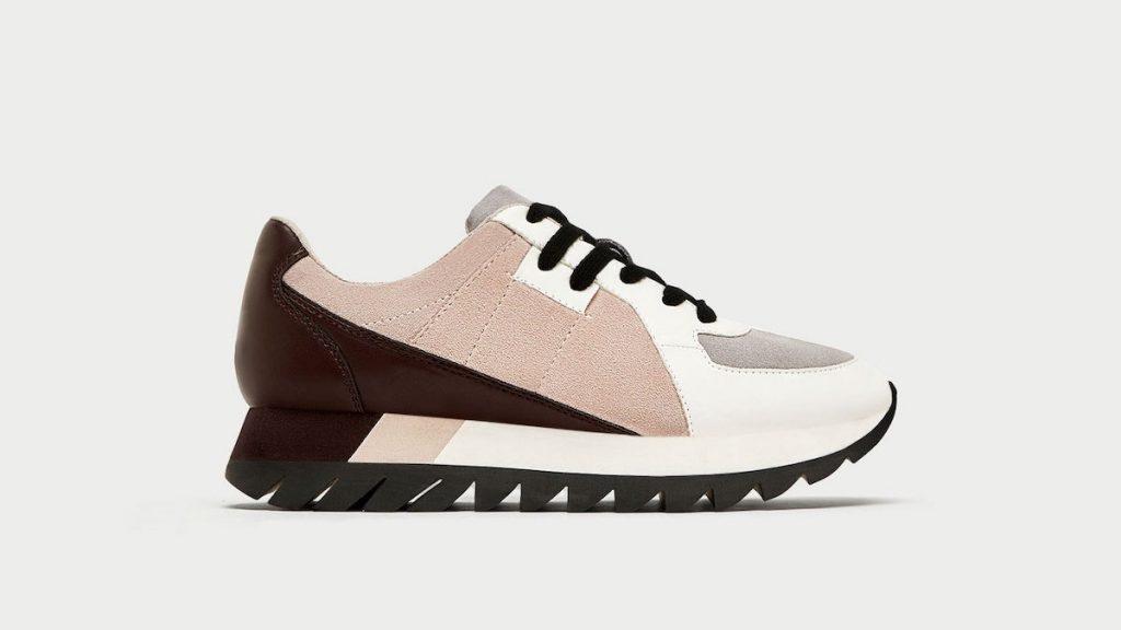 Espadrilles Contrasting Leather Platform Sneakers de Zara, 59,90 $