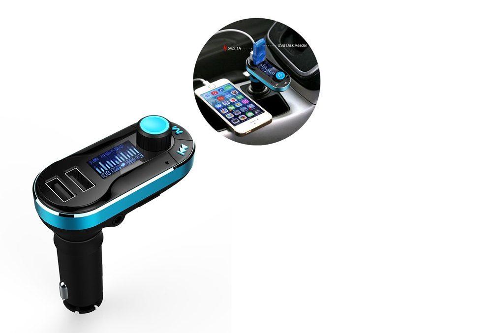 Un transmetteur sans fil Bluetooth permet d'écouter de la musique en auto.