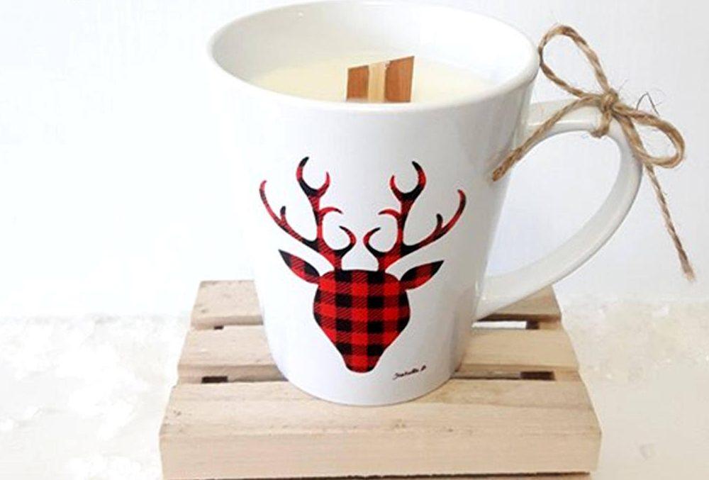 Cadeau pour prendre soin de soi: Une tasse bougie