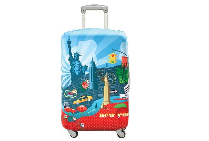 Cette valise est parfaite pour partir à New-York.