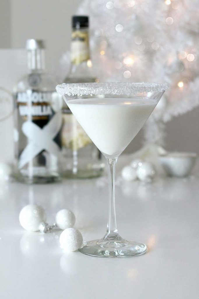 Cocktail de Noël : Martini des neiges