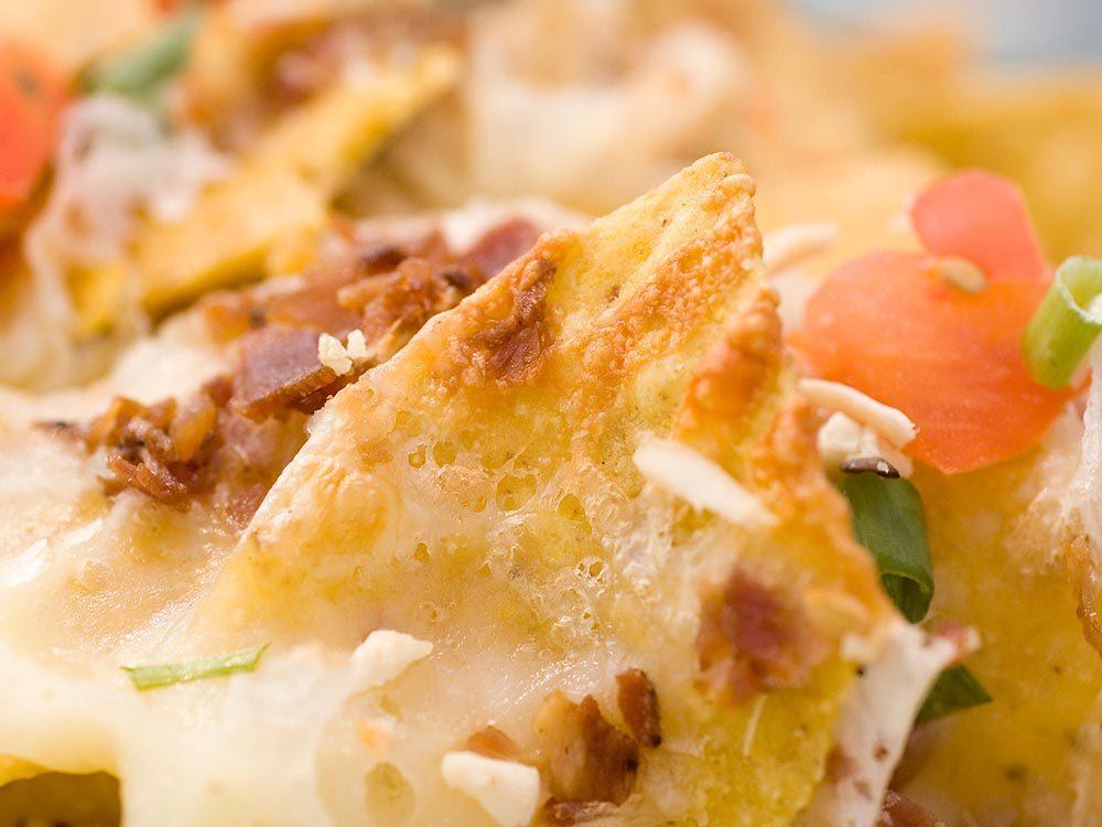 Pour des collations santé: optez pour des nachos.