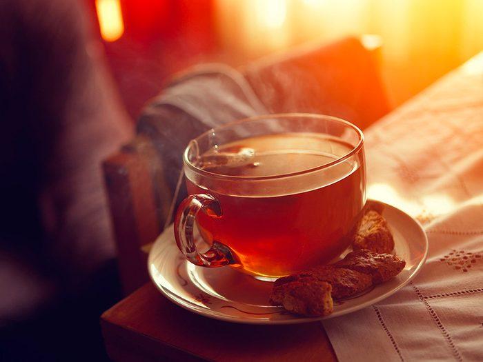 Remède contre le mal de dents: le thé.