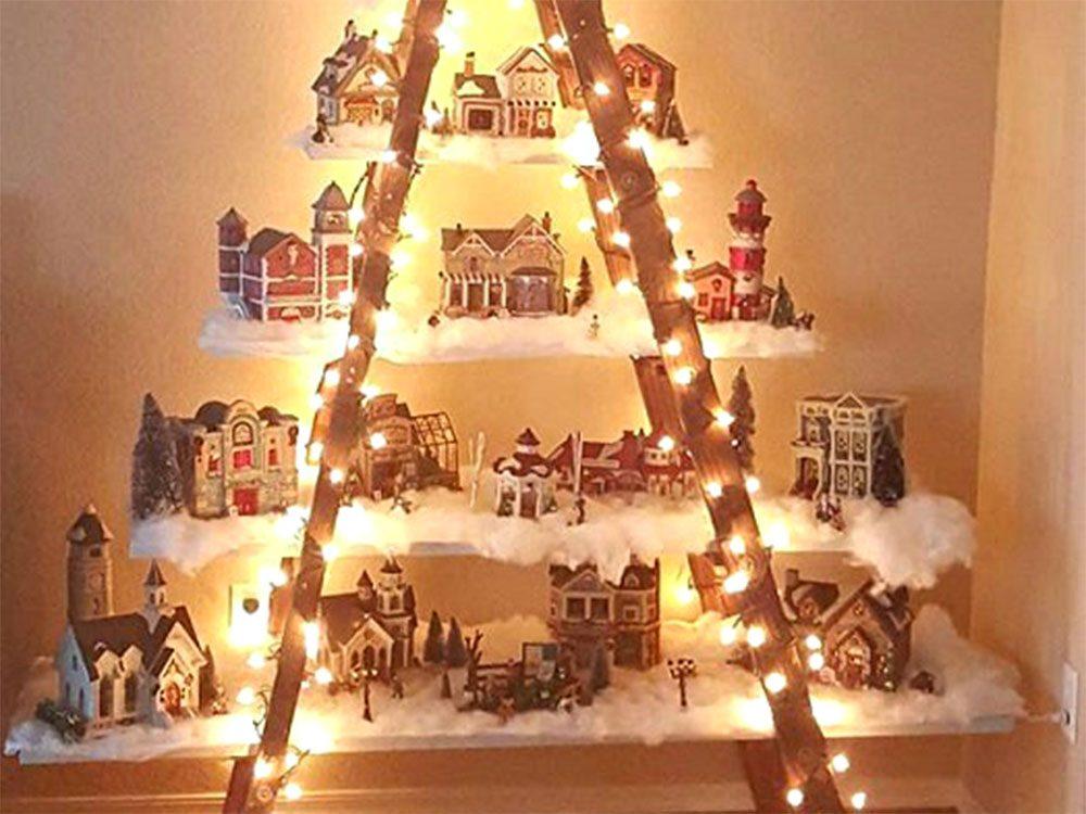 Créer l'illusion d'un sapin de Noël.