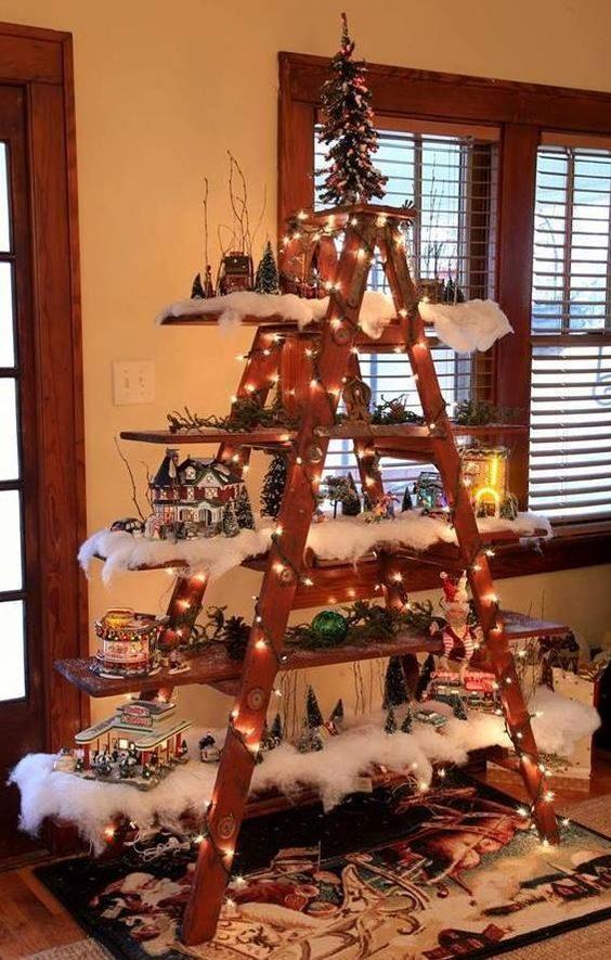 Le sapin de Noël suspendu