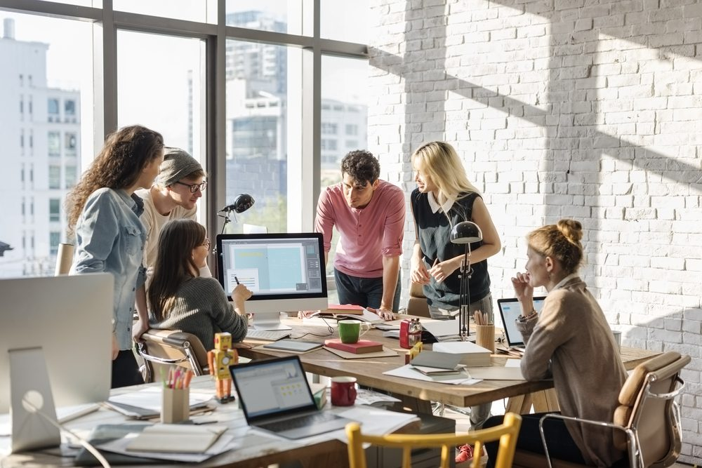 Sagittaire au travail dans une start up décontractée
