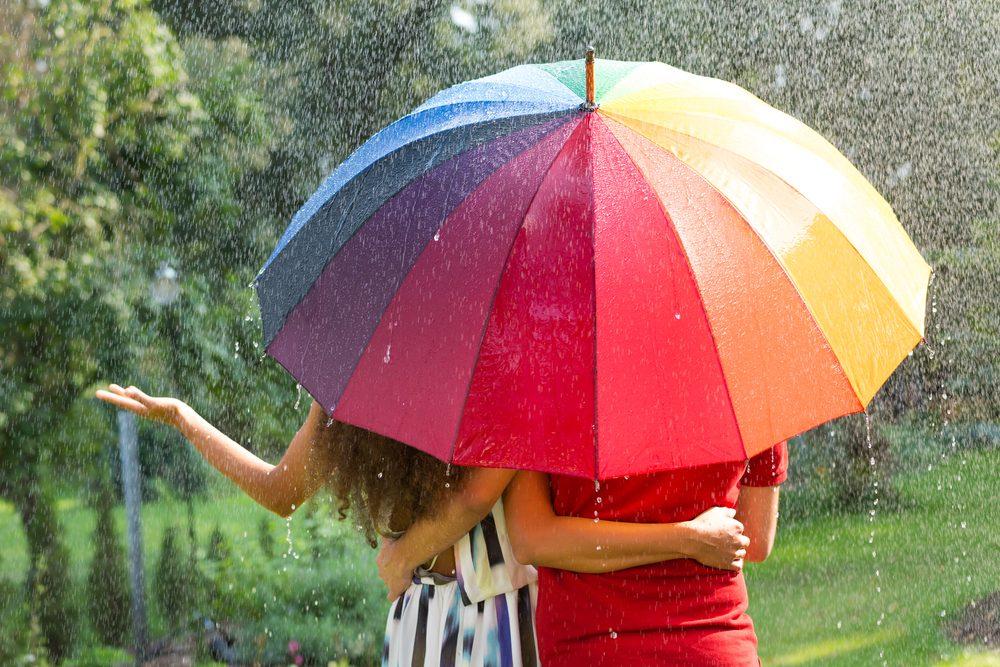 Sortir sous la pluie