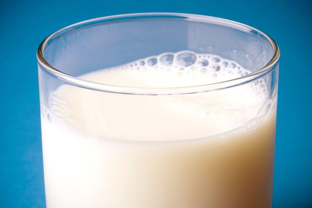 Verre de lait.