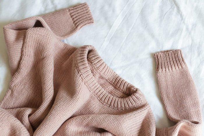 Les chandails en laine n'ont pas besoin d'être lavés souvent.