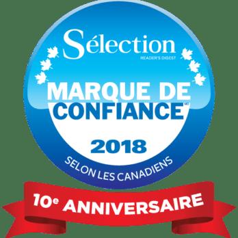 Les 30 gagnants 2018 du sondage Marque de confiance<sup>MD</sup> Sélection de Reader's Digest