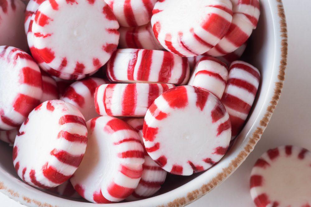 Sucez des bonbons au gingembre ou à la menthe poivrée
