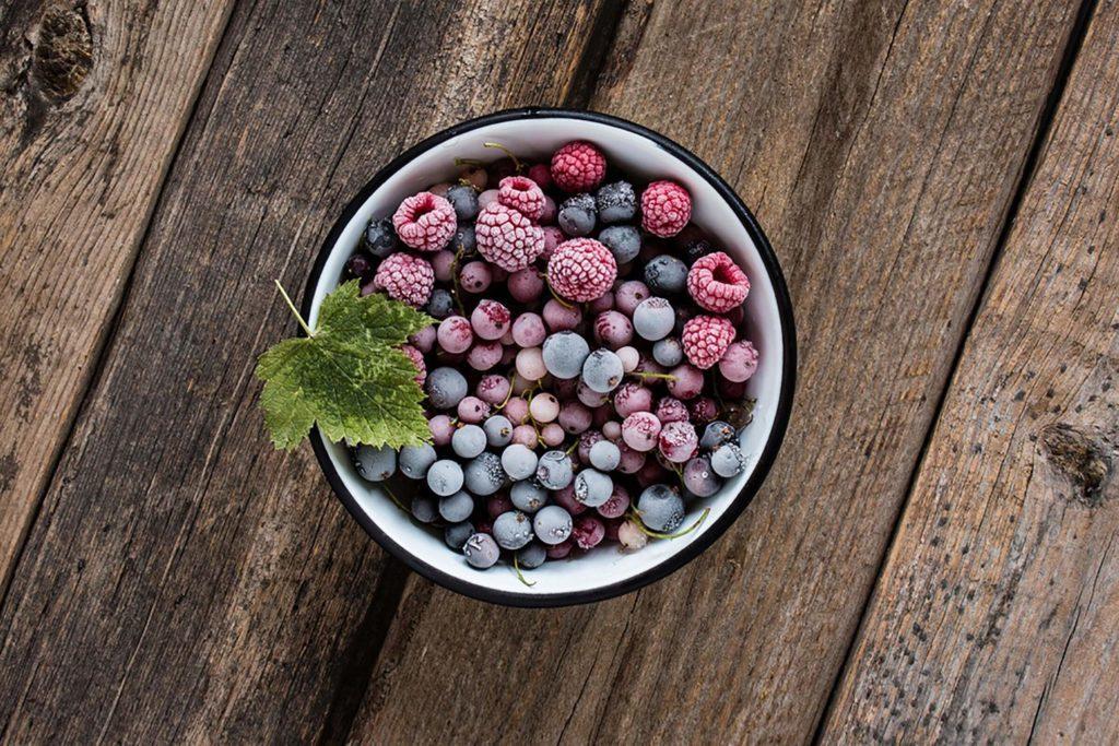 Achetez des fruits et légumes congelés
