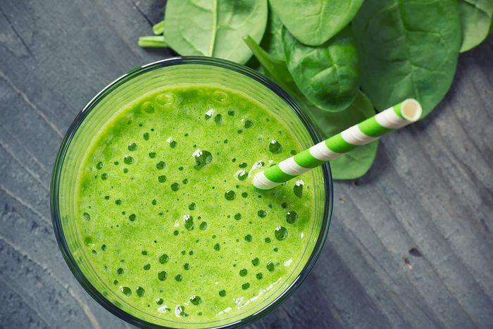 Des légumes dans le smoothie