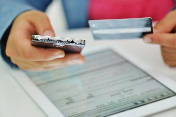Payez avec une carte de crédit