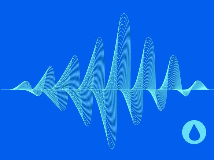 Les sons aquatiques font partie des sons à écouter pour s'endormir.