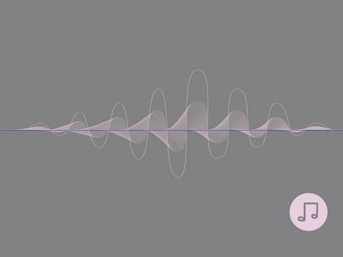 Une musique relaxante fait partie des sons à écouter pour s'endormir.