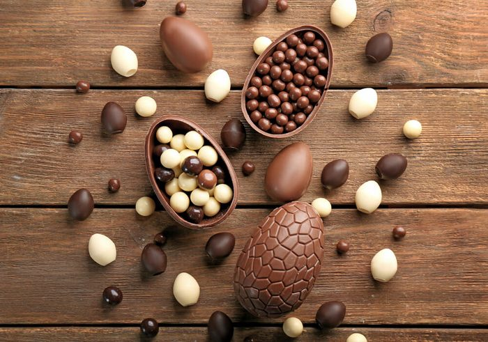 Cocos de Pâques en chocolat.